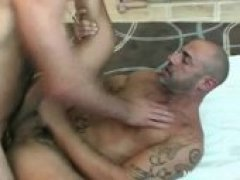 Nothing hotter than two hairy muscle guys fucking and breathing heavy and talking dirty.