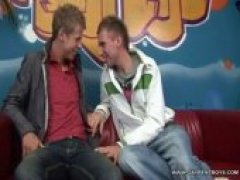 These 2 cute Czech twink rent boys were shy in front of our cameras, but for $500.00 they were excited to have sex with each other.  Once their...