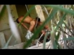 hung brazilians fuck in an abandoned building