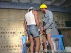 sweaty construction bears blow in a 3way