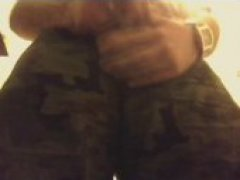 soldier strokes on cam