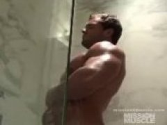 muscle hunk gets tied up in the bathroom and abused