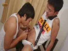 Kinky asian twinks bareback action