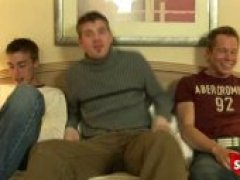 3 horny dudes sucking cock for cash end up ion a hot anal 3 wAy