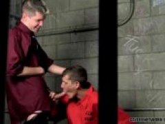 prisoner takes the guards huge dick