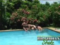 horny and hung dudes get sex crazed from the brazillian summer
