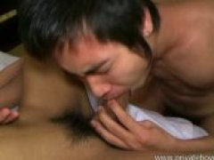 Cute slim Asian boy getting sucked by his friend. See full movie at*****privateboymovie.com