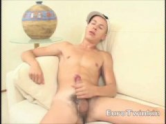 super sexy euro twink sliming his shaft in jizz