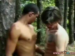 jocks fuck in the woods