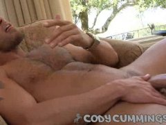 jerking solo and pre cum tasting