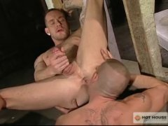 beefy tattooed hunks get pounded