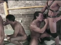 4 young leather guys