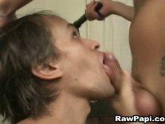 latino barebacking and throat fucking