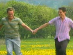 twinks skip through a field of flowers and have a passionate fuck