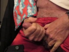 Hot Mature Guy Jerking Off His COck.