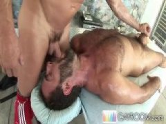 Hot Hairy Guy Sucking His Partners COck