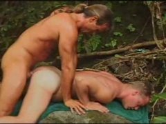 Horny Guys sucking and Fucking Hard in the Jungle.