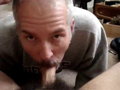Hot Mature Guy Giving a Nice Blowjob.