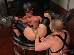Hot Leather Guy Got Fisted By His Buddy.