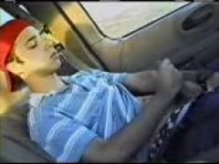 Hot Guy JErking Off His COck inside The Car.