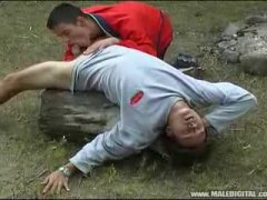 Hot Male Giving His Partner a nice outdoor blowjob.