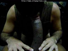 Amateur Guy Loves To Suck a Big Monster Cock.