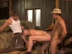Horny Cowboys Having a nice Threesome Fuck.