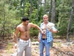 Hot Couple Sucking cock Outdoor.