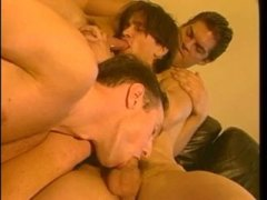 Horny Guys Having a nice Threesome Fuck.