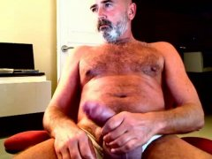 Old Mand Jerking Off His cOck.
