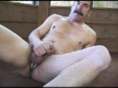 Mature an Jerking Off His cock.