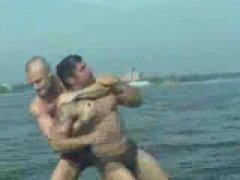 Hot Guys Wrestles in the Beach.