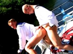 Horny Couple Licking Ass And Anal Fucking in the Yatch.