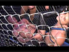 Hardcore Anal Fucking in the steel cage.
