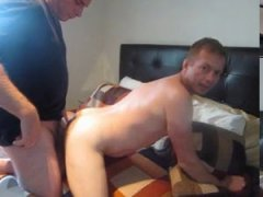 blasting his ass with my hand and my cock.