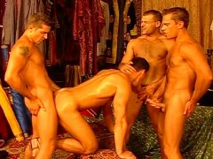Amateur Hot Guys Having a Nice Foursome Action.