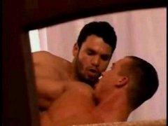 Hung Black Stud Enjoys An Interracial Gay Orgy