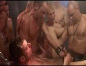 The Wurstfilm dungeon is where guys looking for a dirty fuck meet up- Cocks are sunk into every available orifice. This cock slut knew what he was getting into!