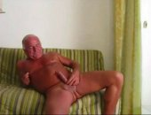 Smooth Sexy Dad stroking for all his adoring fans. He cums a little early and you can tell hes a little disappointed. Its okay Dad!