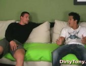 Chatting it up on my couch, we have super hot Danny the Viking and foxy Fabian. For the first time ever Fabian is actually nervous about what he is about to stick up his ass!
