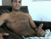 Another huge dicked stud we filmed just for you. Watch him show off to the camera, posing and flexing some, waving his big dick around, and jerking it off!