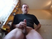 Amateur gay daddy enjoys showing off his hot cock. He likes to stroke hard until he dribbles semen out of the tip of his penis