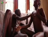 Big Black cock gets sucked off by another black amateur. He sucks him off until hes ready to burst and then he makes a giant cum explosion all over himself.