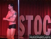 Nude Male Dancers model Danny performs on stage to show off his hot muscular body.