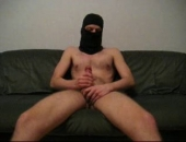 This Amateur is clearly not ready to show his face yet--thats fine, were more interested in his cock! Watch this ninja-esque gayboy stroke his meat til he reaches his sloppy finish