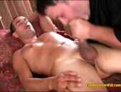 Str8 Stud Xander gets jacked, sucked, then he blows his thick wad! This masseuse trembles with excitement over this straight cock, having never been touched by any other men