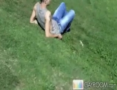 Clay was looking so cute just sitting down on the grass, enjoying the beauty of nature and other men playing football. While he was enjoying his...