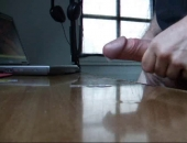 Working at me desk I became horny...