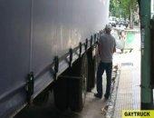 Horny trucker unloading