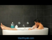 Hot couple make love to each other passionately.